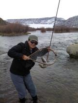 San Juan Fishing in my Simms Waders--IN WINTER!