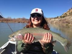 San Juan River, NM February 2015 26.5 inches